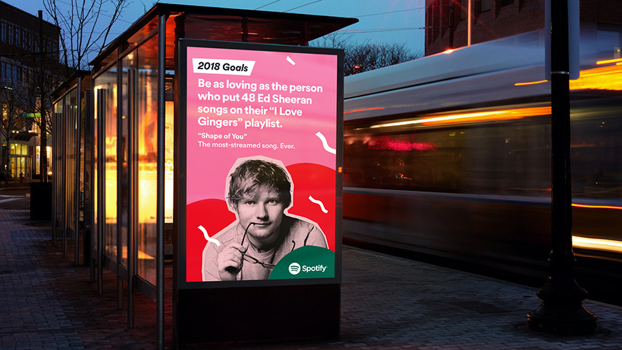 Offline Advertising: Ed Sheeran Billboard